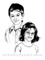 Cousins Portrait inks by Maxahiss