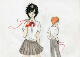 Tatsuki and Ichigo by BloodLilium