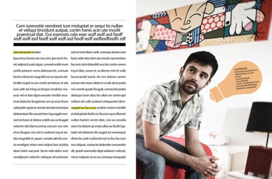 Magazine layout: INFO 02 by chavespapel