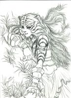 Sketch mutant woman XD by kakochan