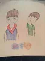 Ben And Doug Pencil Colored by Ashben11