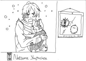 Natsume Yuujinchou - Natsume and Madara by UsagiTail