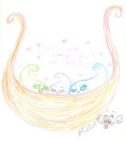 Shh cute little ghosts are sleeping by Kittychan2005
