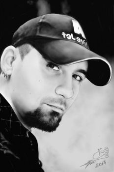 My first portrait on Wacom Intuos Pro)) by kisska777