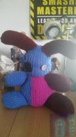 Discoloured Rabbit Knitted Plushie by CraftyMaelyss