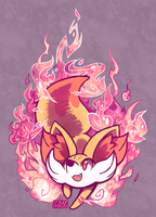 Fox Fire by crayon-chewer