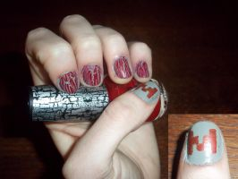 Markiplier Nails by ElectricBlueTempest