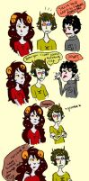 sollux and aradia: be cute by epleno