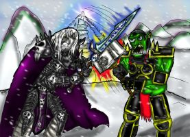 Arthas Vs Thrall by Luke-the-F0x