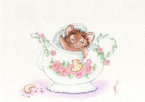 Dormouse  teatime by Tavicat