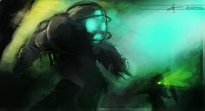 Bioshock Speed Paint by SamTheConceptArtist