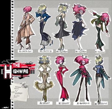 Model Sheet - Fashion Sketches - Highwire by RAWhale