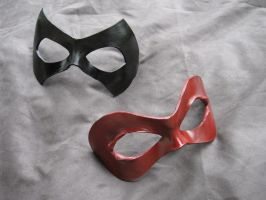 Leather Domino Masks by MummersCat