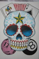 Sugar Skull Tattoo Design by itchysack