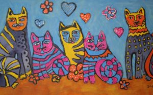 the valentine cats by ingeline-art