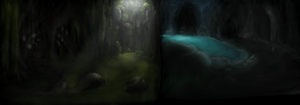 Cave sketches by Yufika