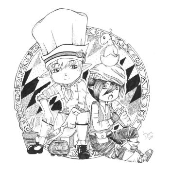 Lalafell Culinarian And Rogue by DouxDoumori