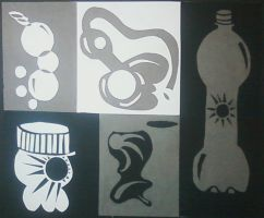Abstraction on Soda bottles. by forgetyourwoes