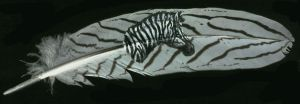 Feather Art: Zebra Head by Sheranuva