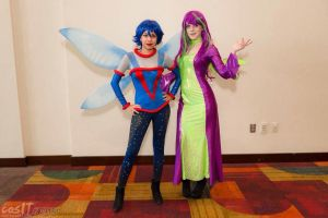 Neopets Faeries: Space Faerie and Jhudora by MomoKurumi