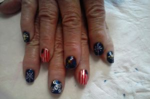 4th of July Nails by MayFeather