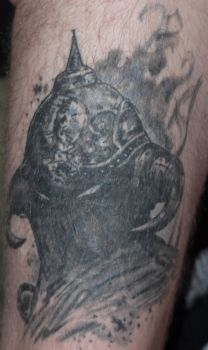 Death Dealer leg piece by LarsonJamesART