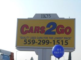 Cars to go Outdoor sign by Hannele-Kahkonen