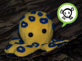 Blue-ringed Octoplushie by Cautionary-threads