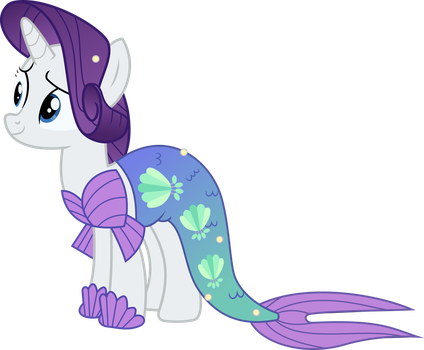 Rarity Mermaid by TimeLordOmega