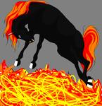 The horse of fire by Adoptablegirl