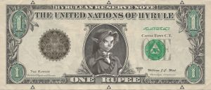 Hylian One Dollar Bill: Front by Dark-Link117