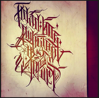 Calligraphy / on Russian language 5 by Wator