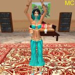 Genie Wonder Woman Belly Dances by The-Mind-Controller