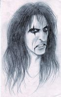 Alice Cooper Snarling by pinkyandrexa
