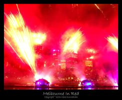Melbourne In Red by cionia