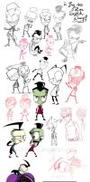 Huge Ass Zim Sketch Dump by Metros2soul