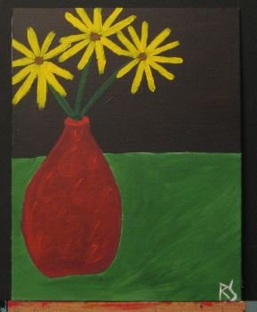 Yellow Flowers in Vase by DiabolicalRob