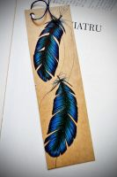Feather Bookmark by olenka168