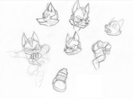 Fox Doodles by CirrusKitfox