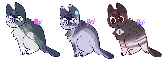 Angry Cat adopts 2 open by polaskia