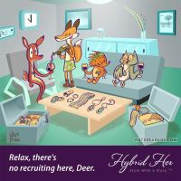 Hybrid Her Deer Cartoon by skortbulb