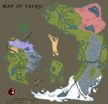 Updated Map of Faerie by krepta-draconis