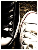 Black Chuck, White Chuck by paolo91