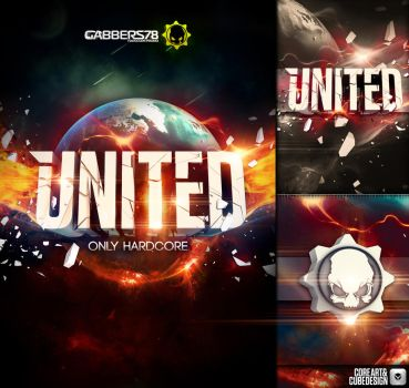 Only Hardcore United Flyer by corecubedesign