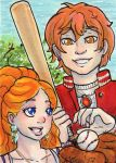 ACEO Moni and Enrico CS ST 24 by nickyflamingo