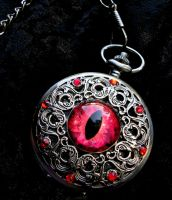 Antique Silver Regal Pocket Watch - Dragon Eye by LadyPirotessa