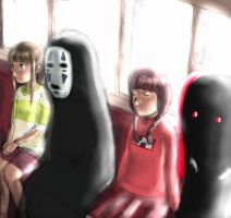 spirited away X yume nikki. by X3carlyX3