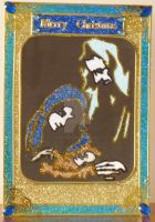 Nativity in Turqoius and Gold by blackrose1959