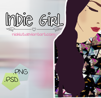 Indie Girl {.PNG y .PSD} by Niakiut