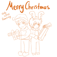 Merry X-Mas from L and Light by LissyFishy